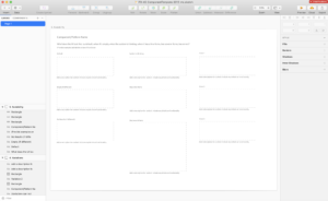 Screenshot from the Sketch template